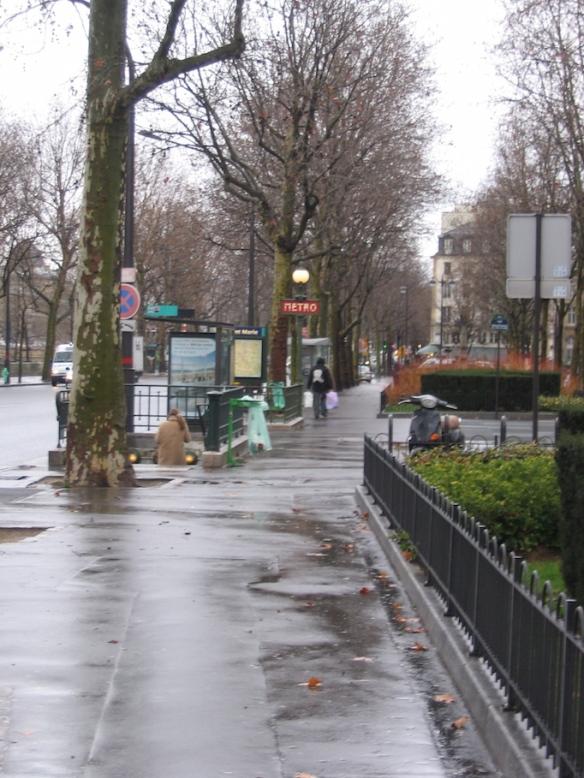 The Pont Marie Metro stop.