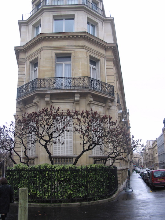 A beautiful Chaillot residence in a flatiron-style building.