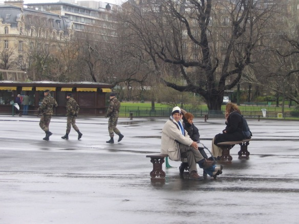 Seeing French soldiers patrolling with full riot gear, rifles at the ready, was a bit of a shock for my American eyes in 2006.