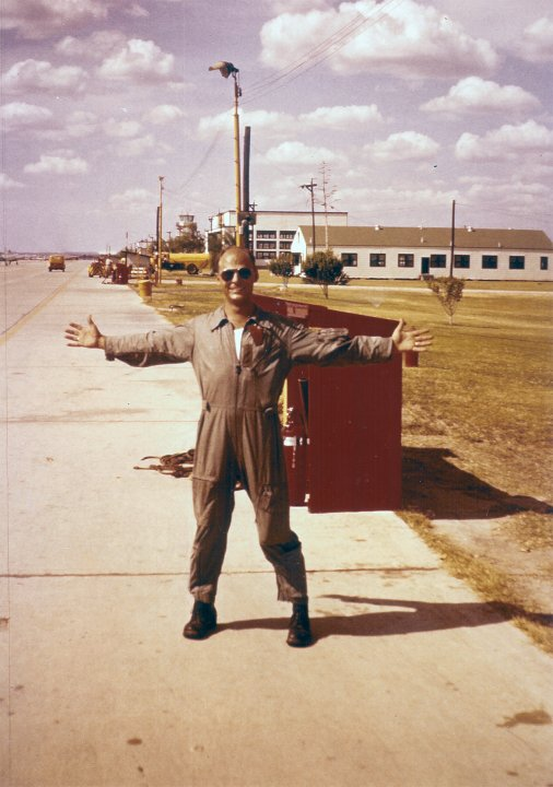 He was larger than life, my Daddy. And so at home in that flight suit.