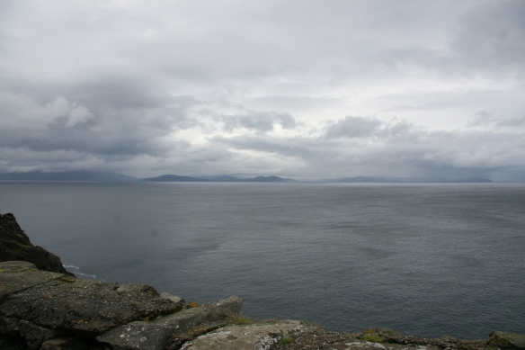 Now looking back out to sea; that's the Iveragh Peninsula, probably Valencia Island.