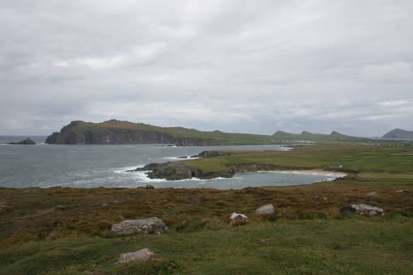 Clogher Head, near Ballyferriter, looking west toward Sybil Head and the Three Sisters.