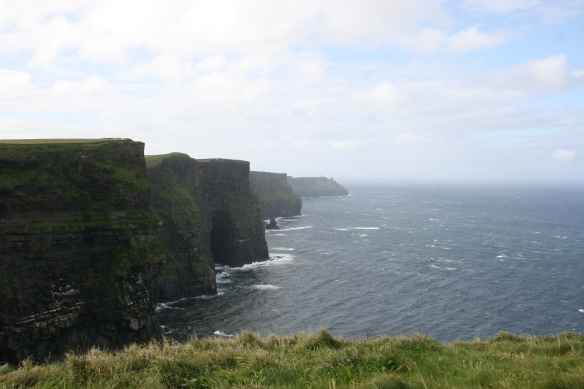 "The Cliffs of Moher, September 2012. (Pronounce it like ""mower."")"