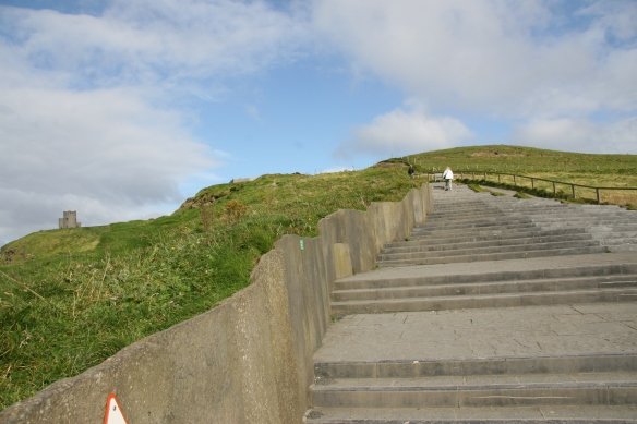The stairway up to O'Brien's Tower (on the left in the distance).