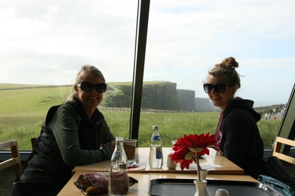 The café at the Cliffs of Moher. We lingered here for awhile before getting back in the car.