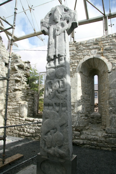 This is the Doorty cross; that's a bishop, St. Fachtnan.