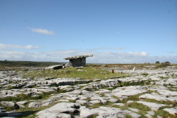 First sight of Poulnabrone. It's near the road but you have to walk in to see it.