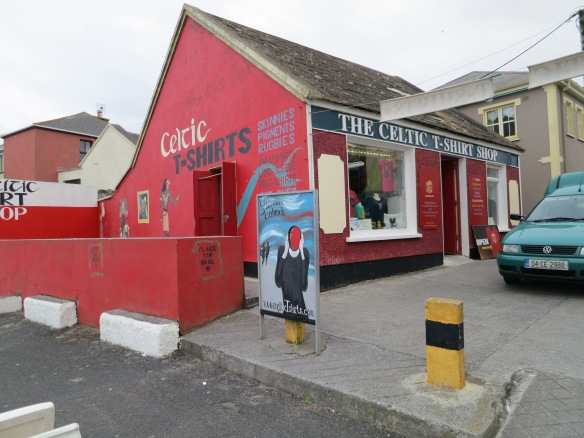 The Celtic T-Shirt Shop, Lahinch, 2012. (Margaret's photo.)
