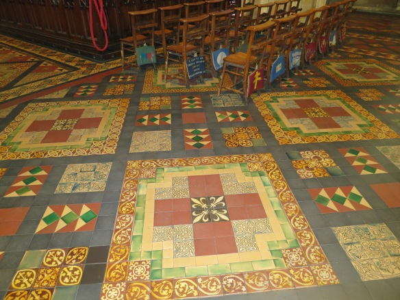 Great floor, right? Margaret says it's Victorian. She is a very useful person to have along on a trip like this—she notices things. (Margaret's photo.)