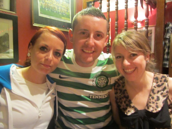 Tracy, Eoin, and Alli at Kenny's Bar in Lahinch. (Jill's photo.)