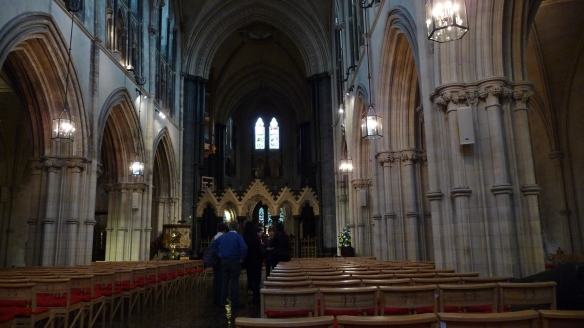 Christ Church Cathedral, Dublin, 2012. Not as much light here as at St. Patrick's.