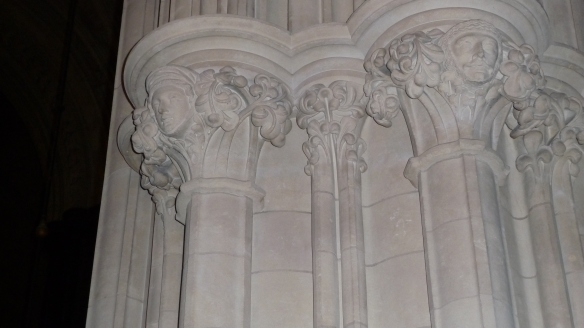 Lovely capitals from that Victorian-era restoration.