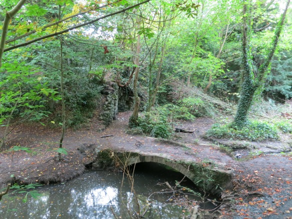 A little bridge across the brook in St. Anne's Park. (Margaret's photo.)