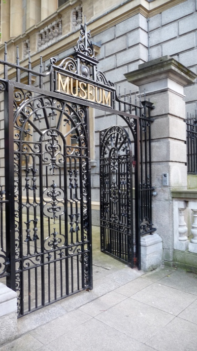 Entrance to the National Museum of Ireland on Kildare Street.