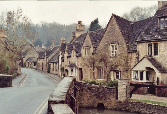 The main street in Castle Combe, December 2000.