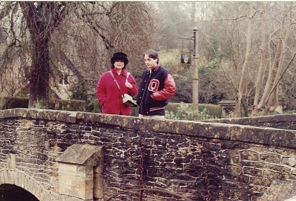 Anna and Jess on that Roman bridge, December 2000.