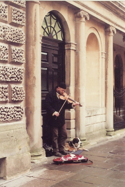 We stopped to listen to this street busker. This is one of my favorite pictures from the trip.