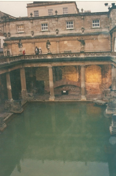 The Great Bath from the second story, December 2000.
