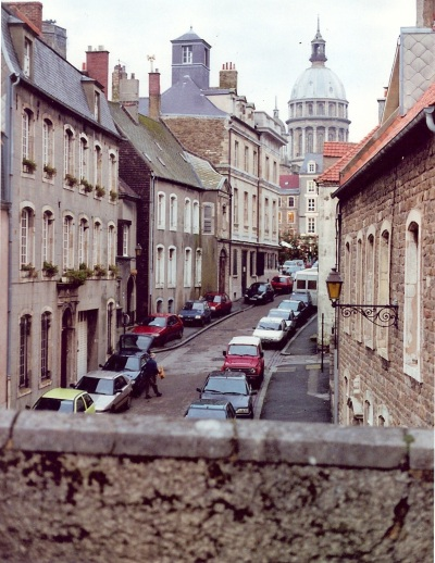 A view of old Boulogne from the rampart, with Notre-Dame in the background.