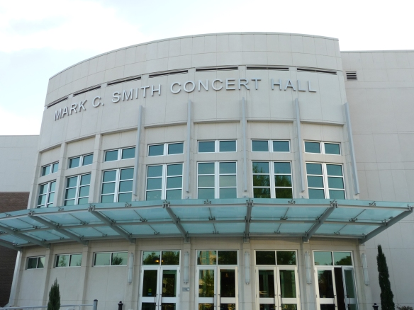 Our destination: the Mark C. Smith Concert Hall at the Von Braun Center complex.
