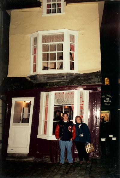 But where else could you find such a delightfully crooked house? Windsor, Berkshire, Christmas 2000.