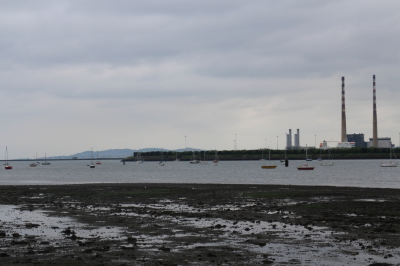 The Poolbeg Chimneys. Number 1 is on the far right. (Remember, you can click on the image—and click again—to zoom in.)