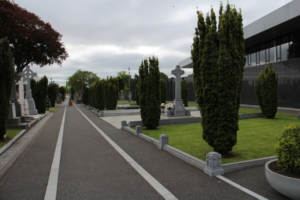Approaching the grave of Michael Collins, Corkman, Irish republican.