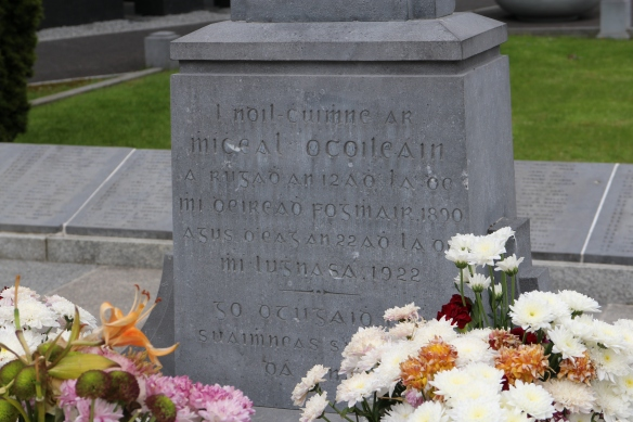 At Michael Collins's gravesite, Glasnevin Cemetery.