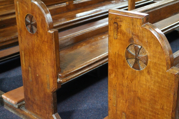 This isn't a fancy Dublin church. But when I look at these wooden pews handmade by some local fella for the glory of God, my heart just swells.