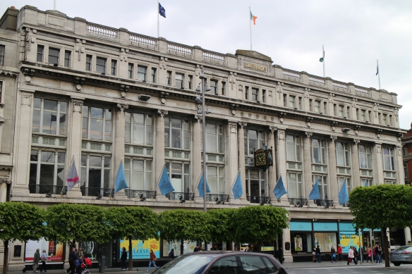 """Clerys is such an established landmark that it is common for friends—especially romantic friends—to say """"I'll meet you under Clerys' clock."""" (What if more than one couple were due to meet here? Sounds like a great short story!)"""