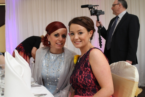 Two beautiful girls: Tracy Hampson (Eoin's wife), and Orla Hampson (sister of the groom).