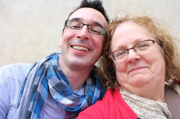 Robert and me, outside the Church Café Bar, May 2013. Next lunch is on me—perhaps in Nashville?