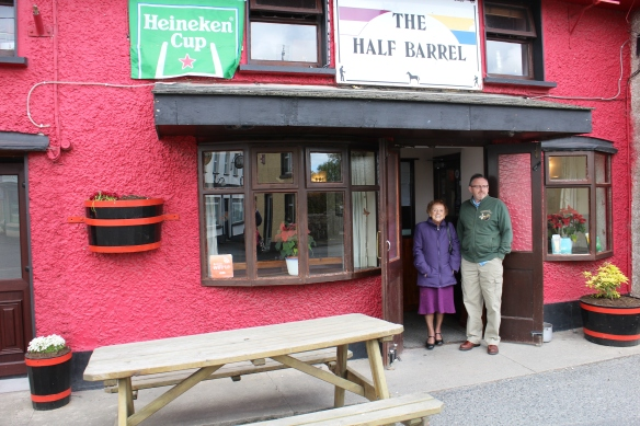 Bridie and Gerry at the Half Barrel, Whitegate, Co. Clare.