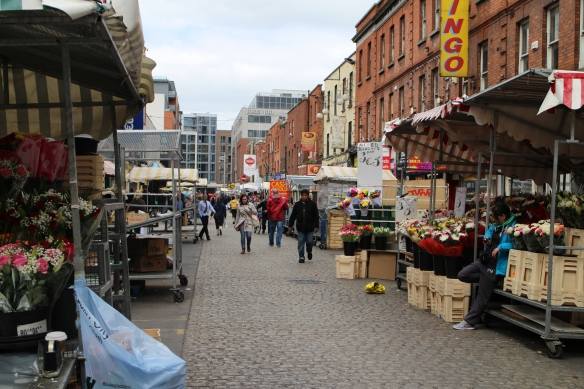 Moore Street open-air market, at Henry Street.