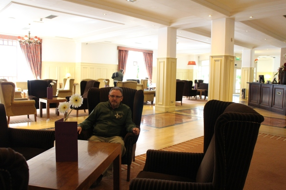 The quiet lobby at the Camden Court.