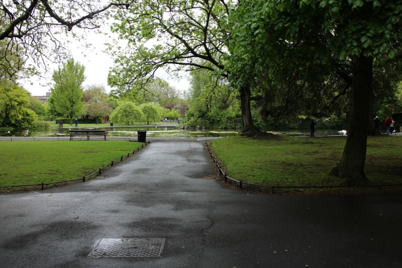 The duck pond at Stephen's Green.