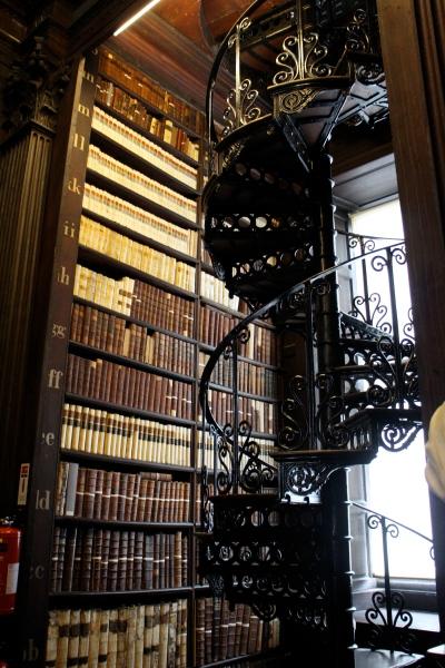 Long Library, Trinity. Still standing just inside the door.