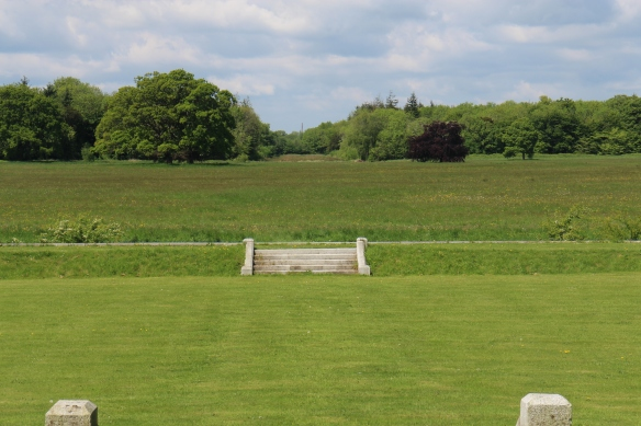 This looks out from the green drawing room at a point two miles away—you can just see the top of the Conolly Folly (sometimes the Conolly Obelisk) in the distance. It is no longer a part of the property, though it was once.