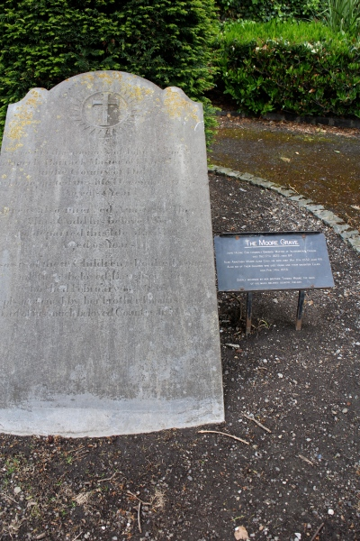 This is the Moore family memorial, of the poet and singer-songwriter Thomas Moore (1779–1852).