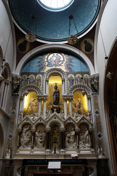 Our Lady of Dublin. The shine itself was completed in 1915. (Don't forget you can click on this photo and click again to see it up close.)