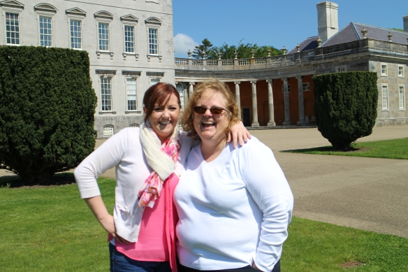 But it was a good excuse to take a few more photos. :) This is Clare and me. Stables wing in the background.