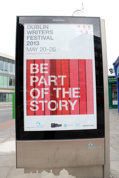 The festival was over, but the posters were still up. One of these days, though, I plan to be a part of the story!