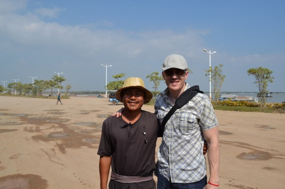 Our tour guide, Thanh, and Tim.