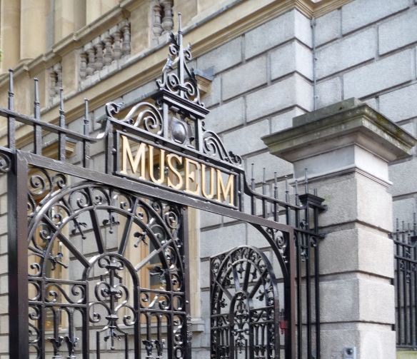Entrance to the National Museum of Ireland on Kildare Street, Dublin