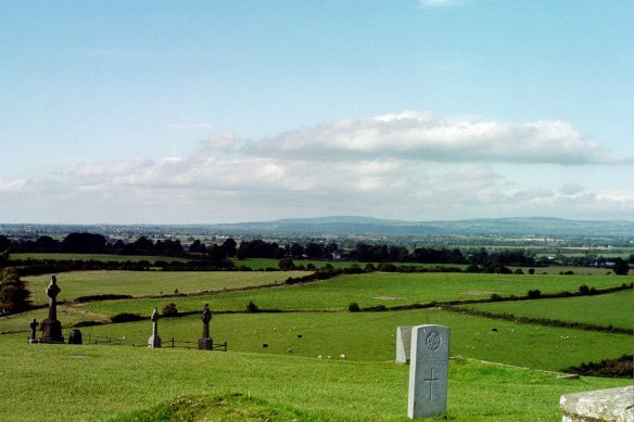 A view of the valley from the churchyard at the Rock of Cashel, 2003.