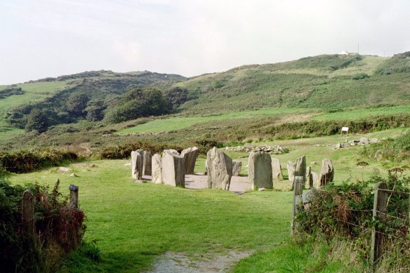 Drombeg ston circle on a pretty day in 2003.