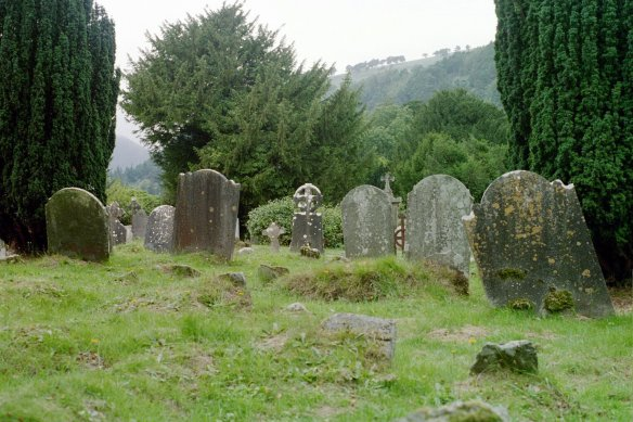 The grounds at Glendalough are a riot of headstones.