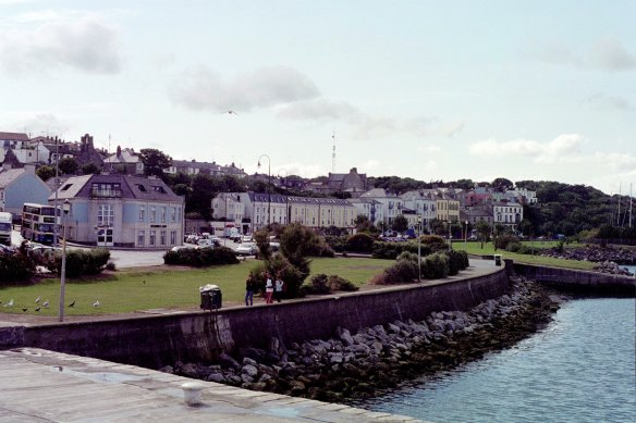 Looking back at Howth village from the marina.