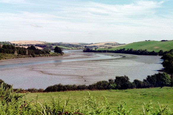 And this is what the river looks like at low tide.