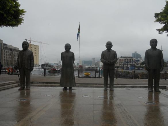 In Nobel Square, near the waterfront, are statues of South Africa's 4 Nobel Peace Prize laureates: Albert Lithuli, Desmond Tutu, F. W. de Klerk, and Nelson Mandela.